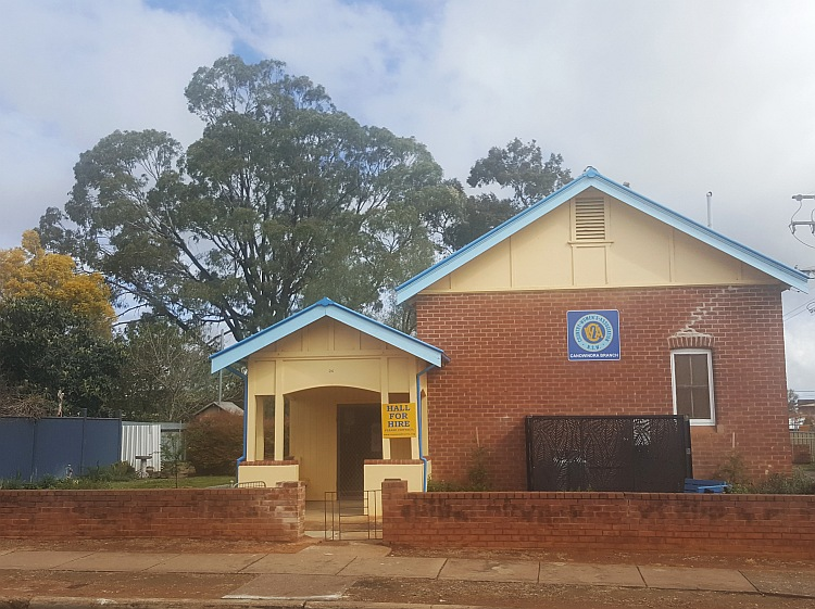 CWA Hall for Hire in Canowindra